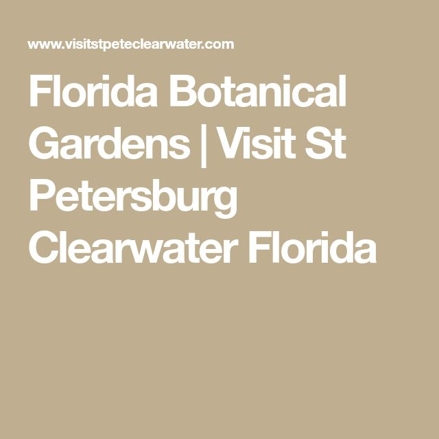 Florida Botanical Gardens | Visit St Petersburg Clearwater Florida
