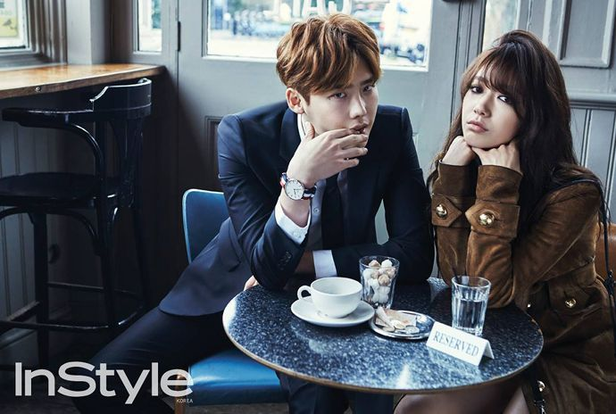 Lee Jong Suk and Park Shin Hye reunite in London for InStyle Korea's April issue