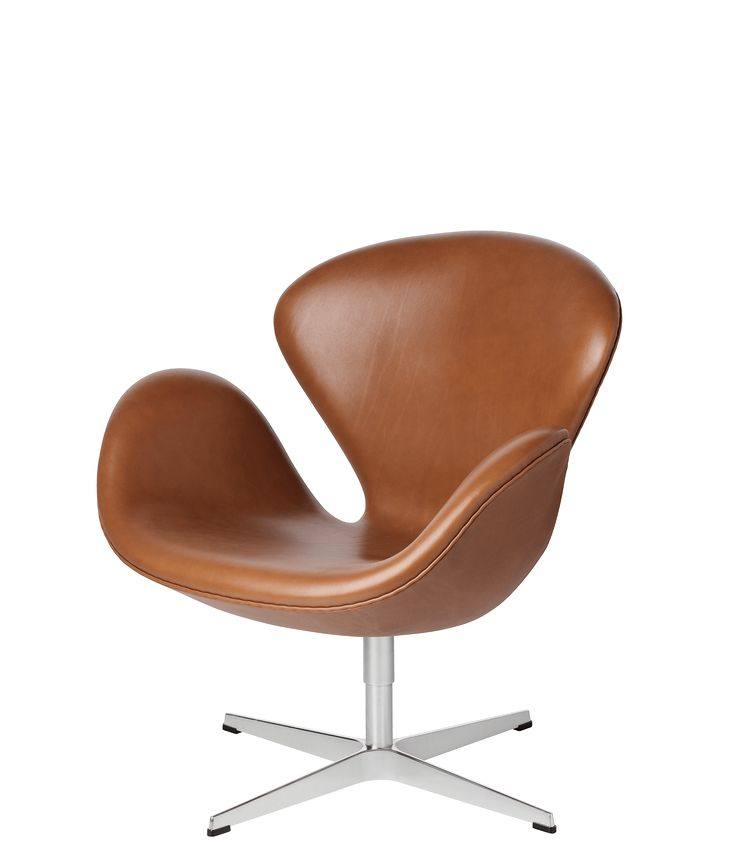 The Swan™ easy chair, leather