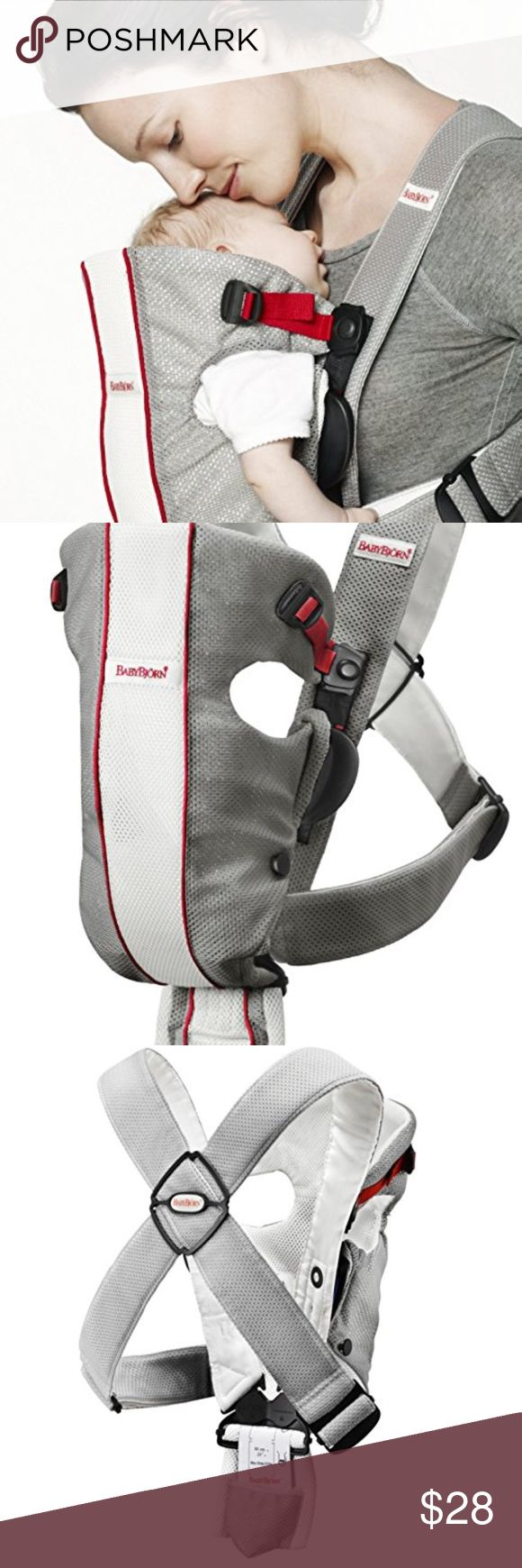 """BabyBjorn Baby Carrier Original BabyBjorn Baby Carrier Original: Recommended for a newborn at least 8 lbs and 21"""" up to 25 lbs Easily and securely carry child, hands-free Fits parents perfectly and securely with only a few adjustments 2-part design allows you to lift sleeping baby from carrier without waking Designed to give the proper support for baby's head, neck, spine and hips Baby Bjorn Other"""