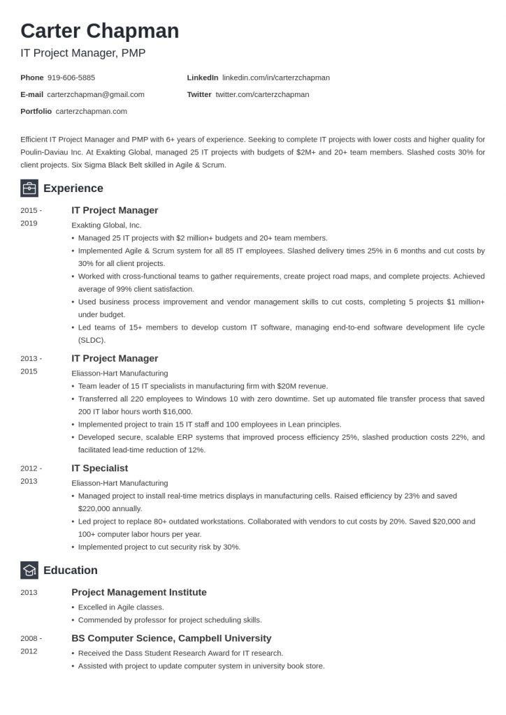 Resume Examples Vendor Management 2021 Project Manager Resume Job Resume Examples Resume Examples