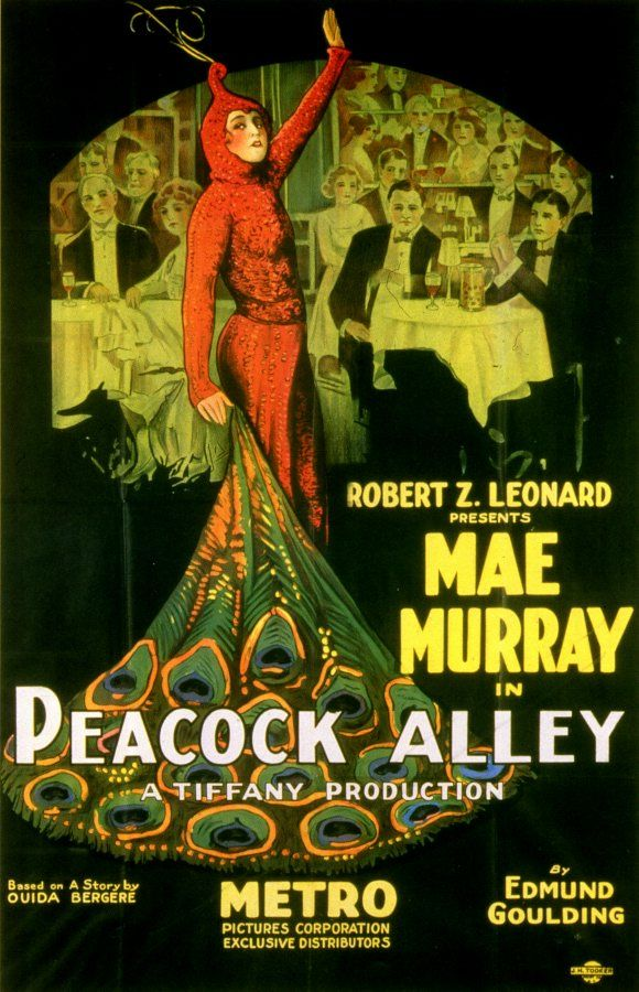 """Mae Murray, """"the girl with the bee-stung lips,"""" in 'Peacock Alley.' Murray hailed from Portsmouth, VA."""