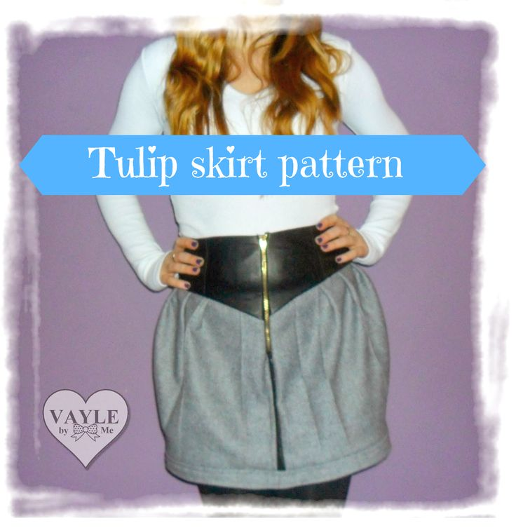 Wykrój na spódniczkę tulipan