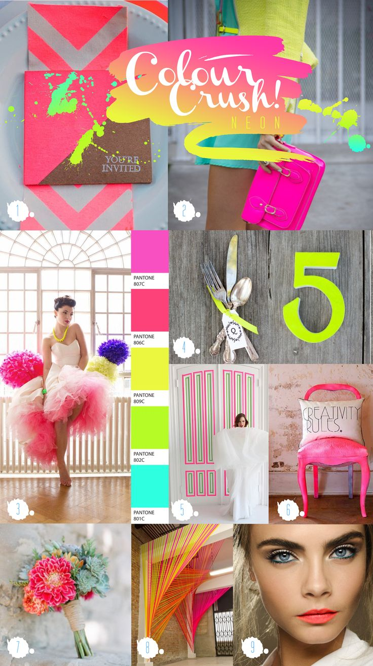 Paperknots Colour Crush Chronicles #neon #wedding ideas 10lbs in 3 days! Get ready for your big day!