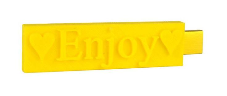 enjoy flash drive 3D printed