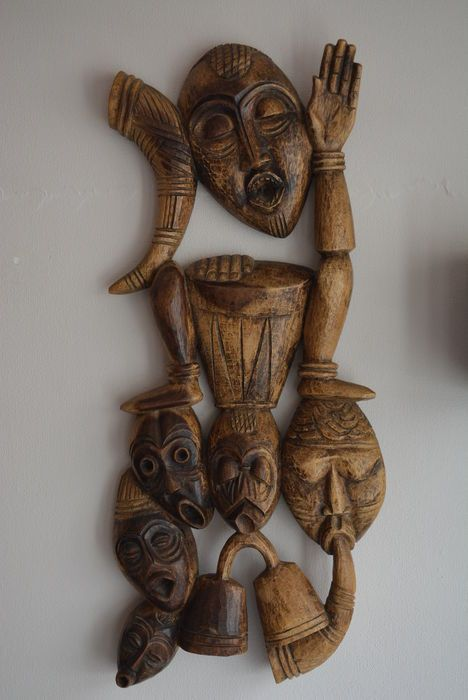 Nu in de #Catawiki veilingen: Afrikaans Masker Makakala - Zimbabwe - Massief hout