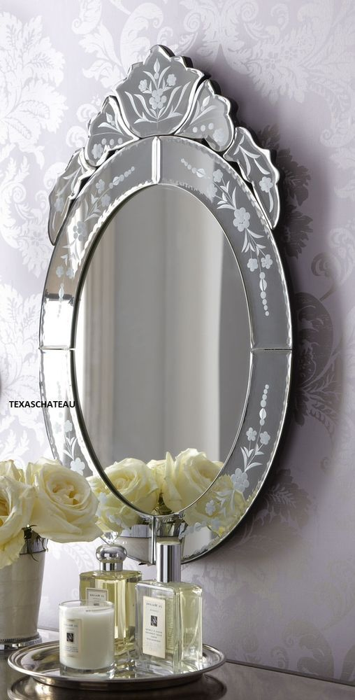 ... style oval wall mirror ~ vanity bathroom entry : French, Wall mirrors