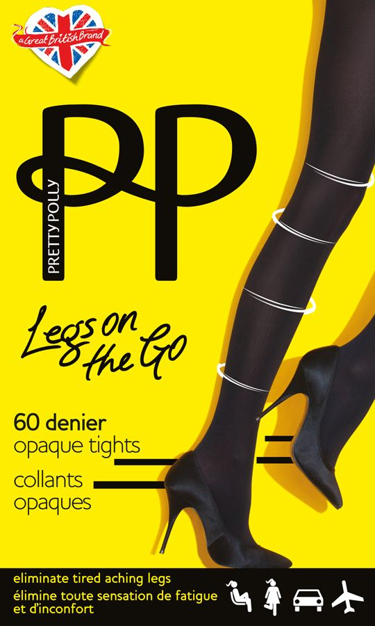 Pretty Polly Legs On The Go - 60 Denier Light Support Tights