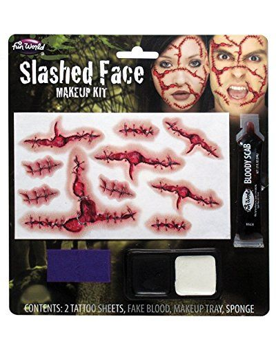 Slashed Face Makeup Kit Costume Makeup *** Click image to review more details.