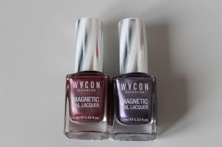Smalto Wycon magnetico n.503 e 504. Smalti magnetici... vi mostro i risultati. #Nail #Magnetic #NailPolish #Wycon #Swatches