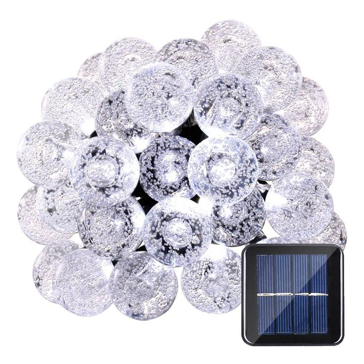 Qedertek Globe Solar String Lights, 19.7ft 30 LED Fairy Lights, Outdoor Solar Lights for Home, Garden, Patio, Lawn, Party and Holiday Decoration (White) => Remarkable product available now. : Christmas decor