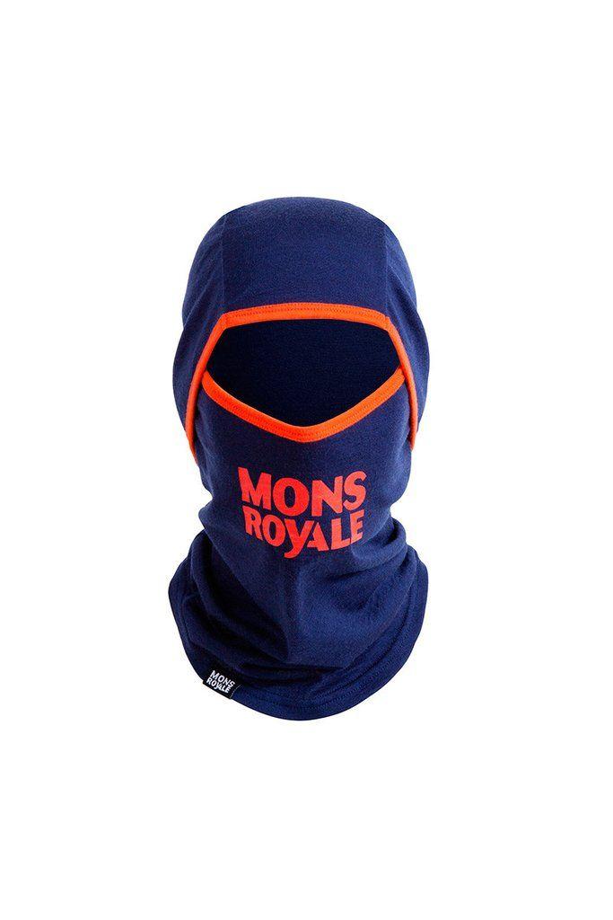 Santa Rosa Hinge Balaclava - Navy / Spice   Mons Royale New Zealand