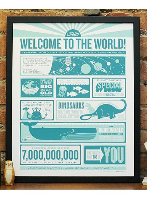 Welcome To The World Print – from hunting for george