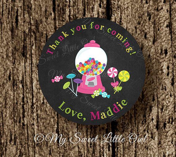 Chalkboard candy label candy sticker candy by MySweetLittleOwl