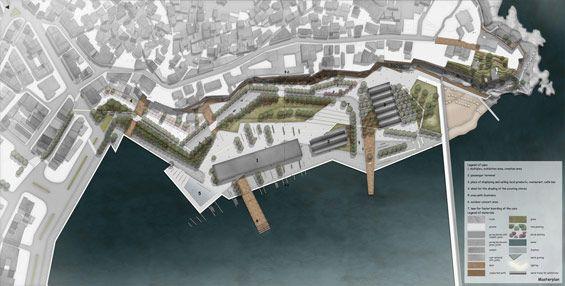 student project | regeneration customs office area in kavala greece elli nikolaidou waterfront concept plan