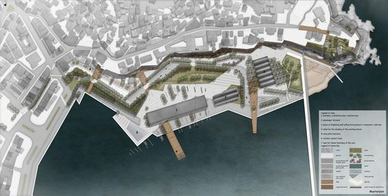 student project | regeneration customs office area in kavala greece elli nikolaidou waterfront concept plan