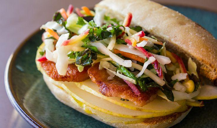 Pork & Pear Slaw Sandwich