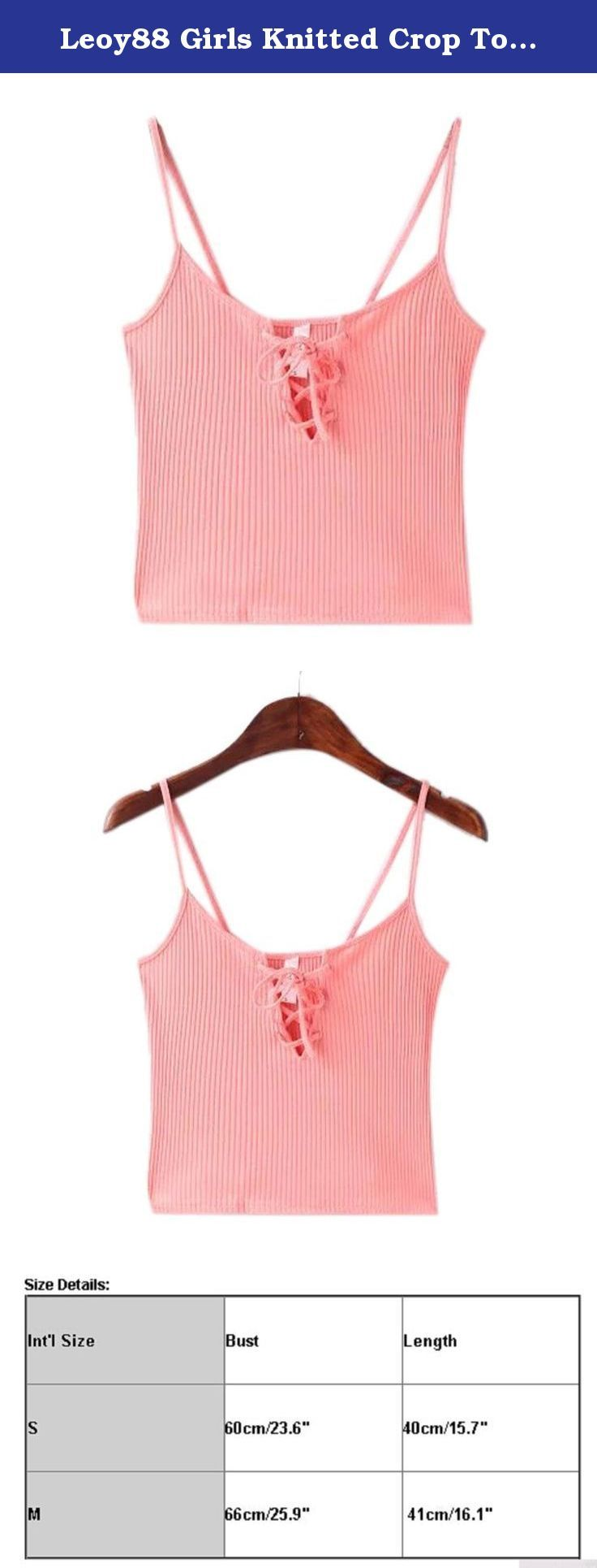 "Leoy88 Girls Knitted Crop Tops Cami Tank Tops Small Size (S(Bust60cm/23.6""), Pink). ★Package include:1PC Vest Size Details:1 inch = 2.54 cm SizeS----Bust60cm/23.6""----Length40cm/15.7"" SizeM----Bust66cm/25.9""----Length41cm/16.1"" ★Any questions, please contact us, We will rely you within 24 hours ★We will ship in 1-2 days. we will speed the shipping, hope you can receive it soon. Don't worry ★Welcome to our New store :www.amazon.com/shops/leoy88 .We have lots of surprise!."