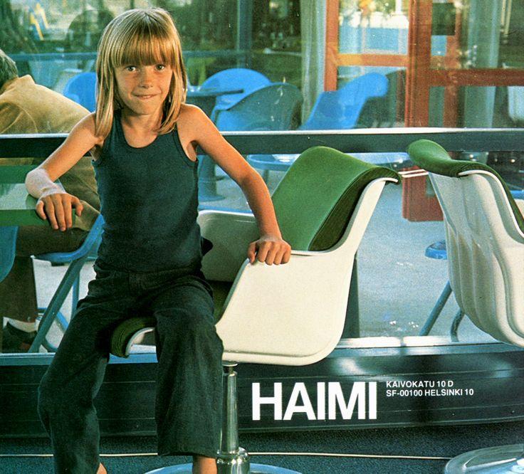 Chairs by Haimi, designed by Yrjö Kukkapuro, 1970's.