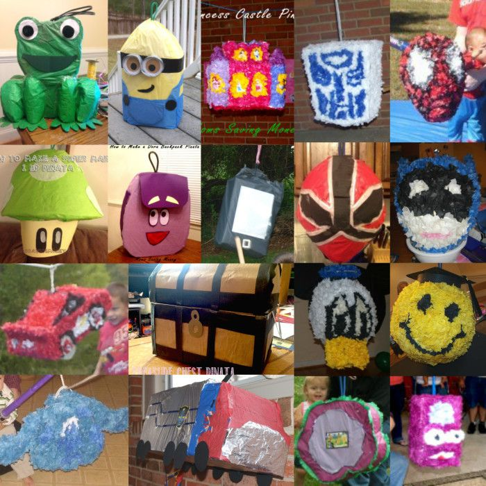 18 DIY Pinatas Costing you less than $3 each to make! All are Step by Step tutorials. Be creative and let your hands make the #pinata!