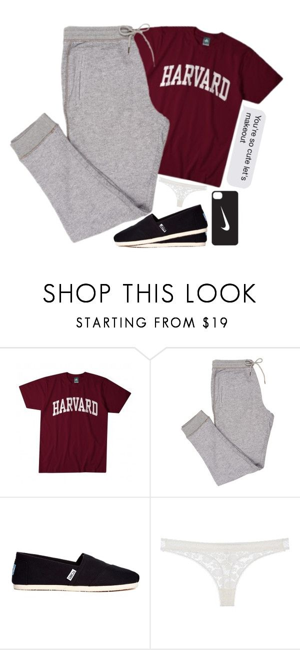 """""""nighty night ? x x"""" by babygirl-xox ❤ liked on Polyvore featuring TOMS, STELLA McCARTNEY and NIKE"""