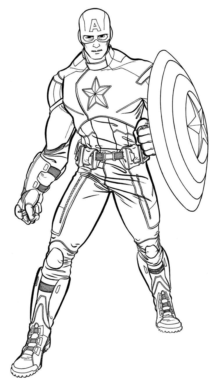 coloriage Captain America a imprimer 380                                                                                                                                                     Plus