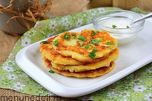 Рецепт оладий из картофельного пюре / Меню недели