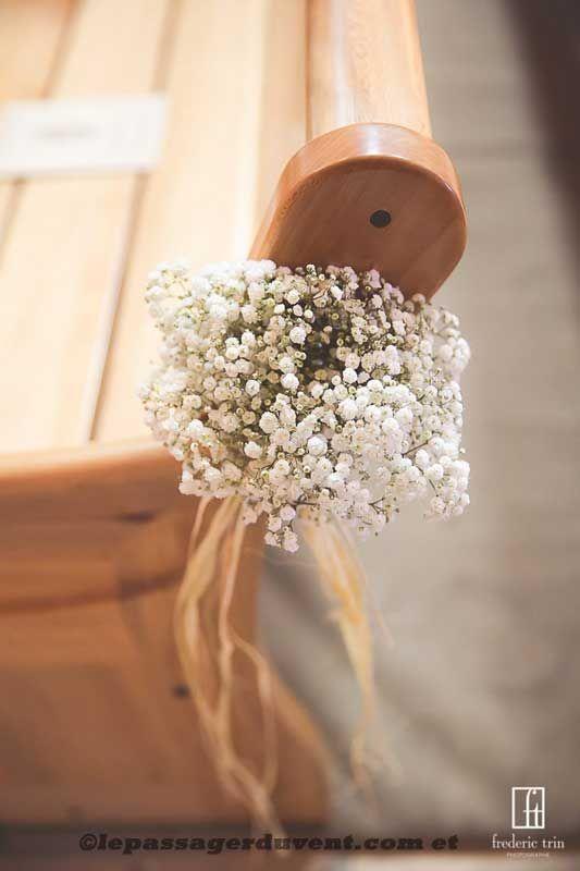 bouquet de banc gypsophile