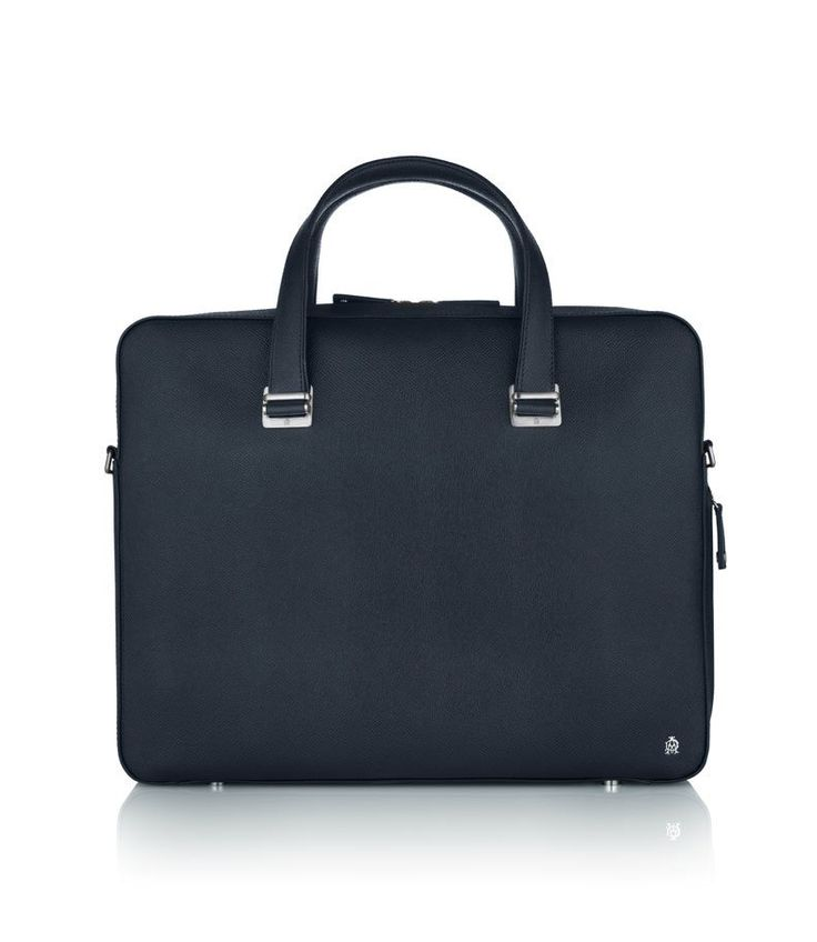Bourdon Navy Single Zip Briefcase