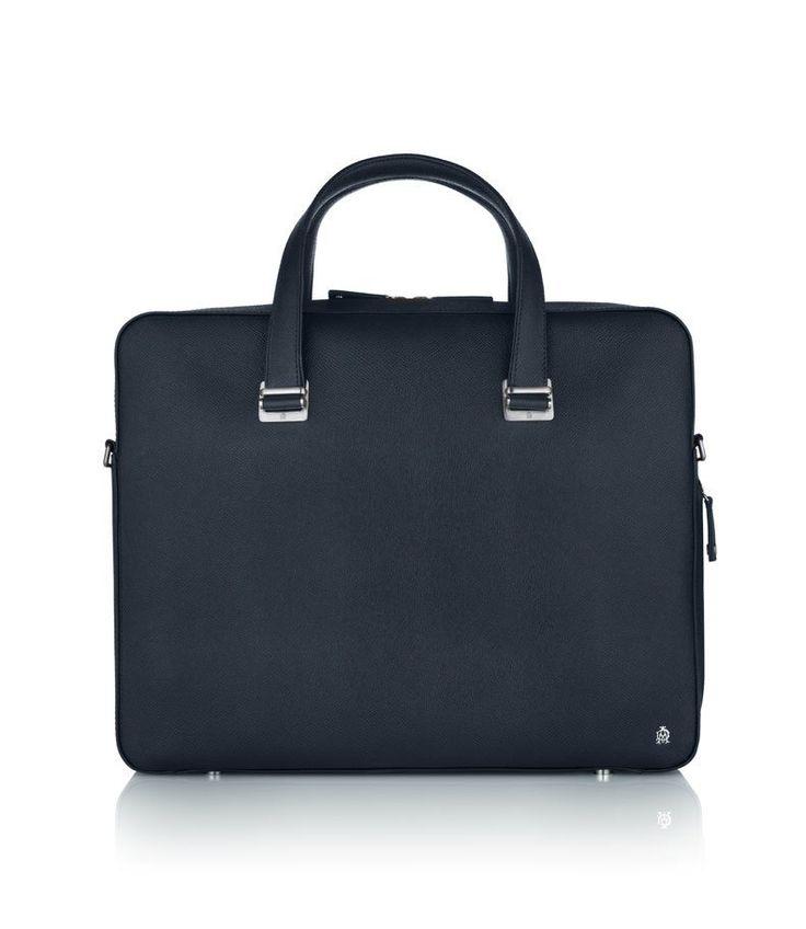 Bourdon Navy Single Zip Briefcase