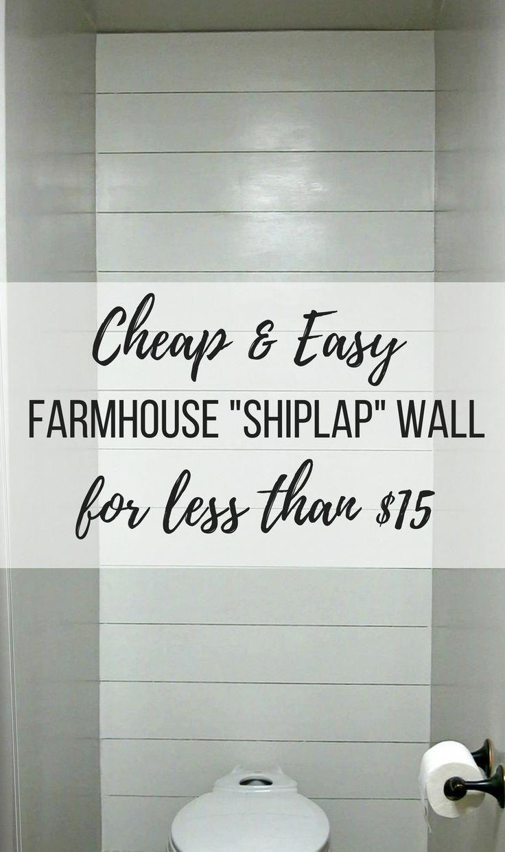 Cheap & Easy Farmhouse Shiplap Wall for less than …