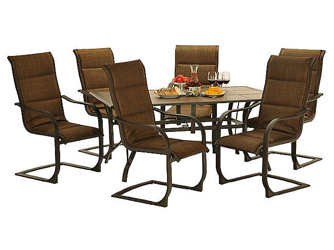 Westcott 7 Piece Patio Set With Tile Top Table