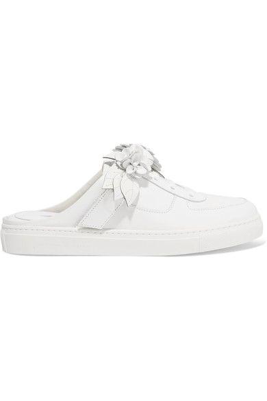 Sophia Webster - Lilico Jessie Appliquéd Leather Sneakers - White - IT