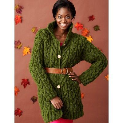 Into the Woods Coat - Knitting Patterns - Patterns | Yarnspirations
