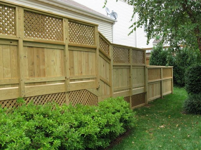 Notice How Lattice Is Beautifully Used For This Deck Design    Incorporated  In Both The Skirting And As Ornamentation On Top Of The Privacy Wall Too.