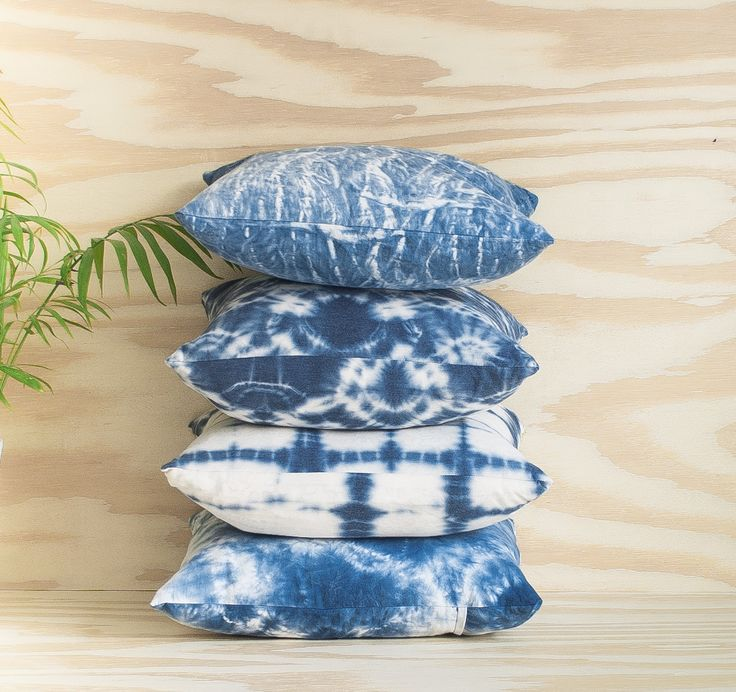 Mini shibori pillows
