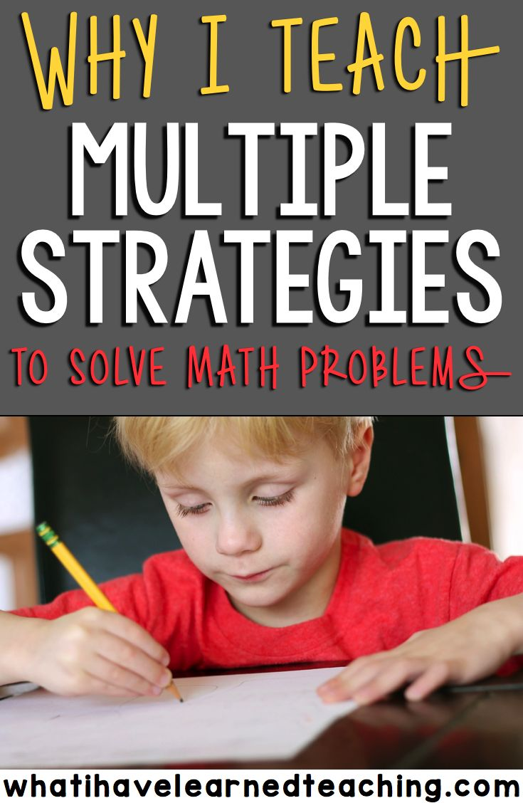 best images about math problem solving activities and ideas on why i teach students multiple strategies to solve math problems