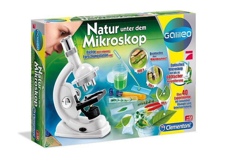 Natur unter dem Mikroskop, Clementoni®, »Galileo« für 24,99€. Experimentierkasten für kleine Wissenschaftler, Ab 9 Jahren bei OTTO