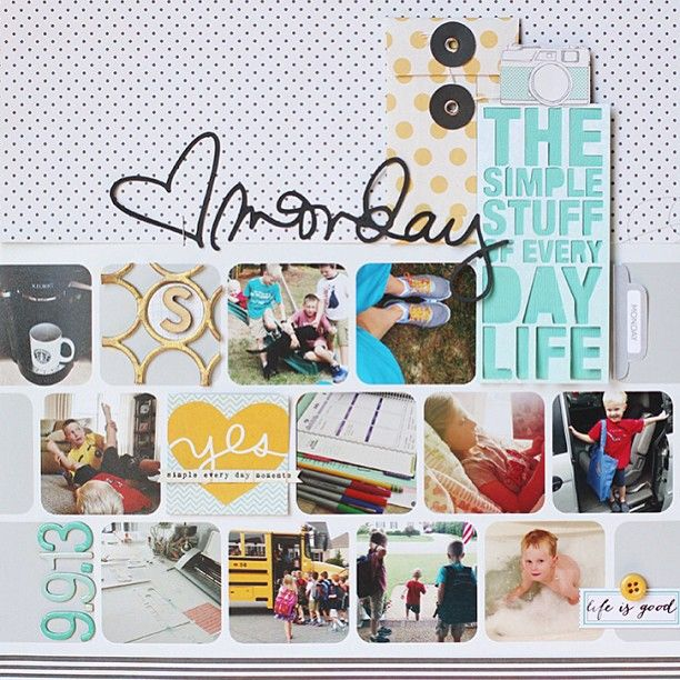 I'm up on the @Studio_Calico blog today sharing how I tackled a day in the #weekinthelife project. Used @Ali Velez Edwards awesome templates for a ...