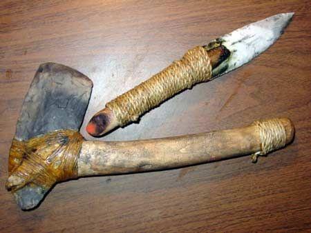 making primitive tools