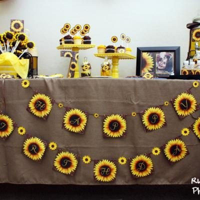 Fall Sunflower and Burlap Party {Birthday Pics}