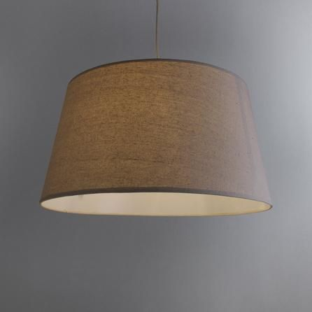 Dunelm Kingham Contemporary Design Natural Brown Cotton Light Shade