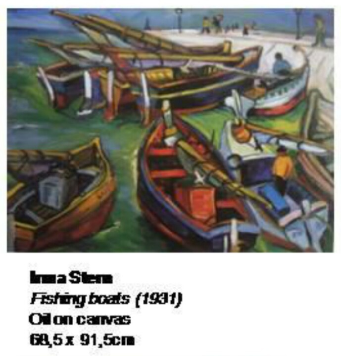 Irma Stern - Fishing boats Stolen from Pretoria gallery, but found :-)