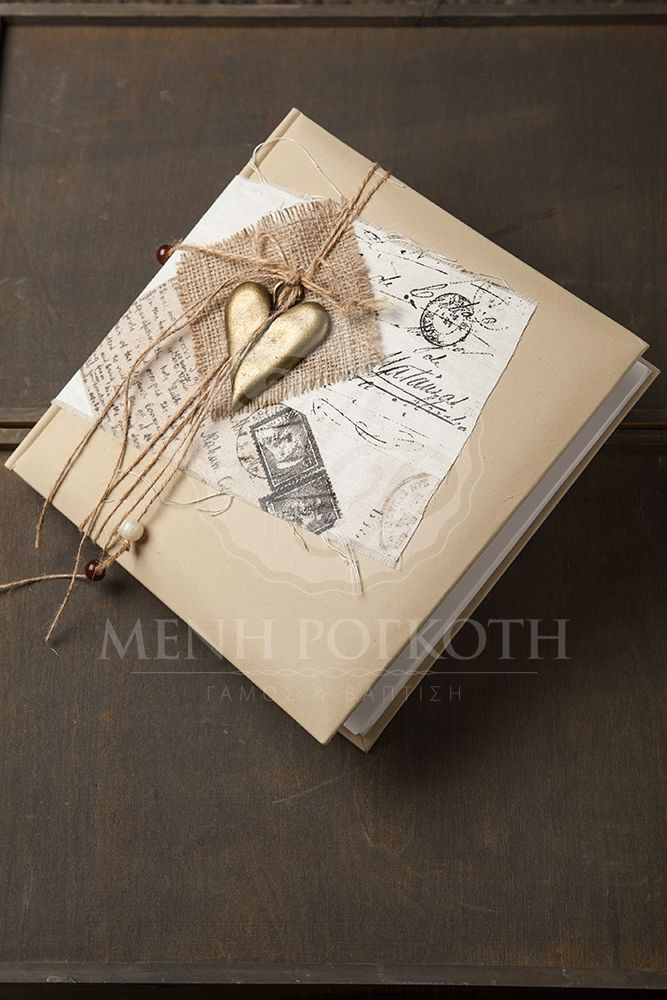 Handmade vintage style wedding guest book