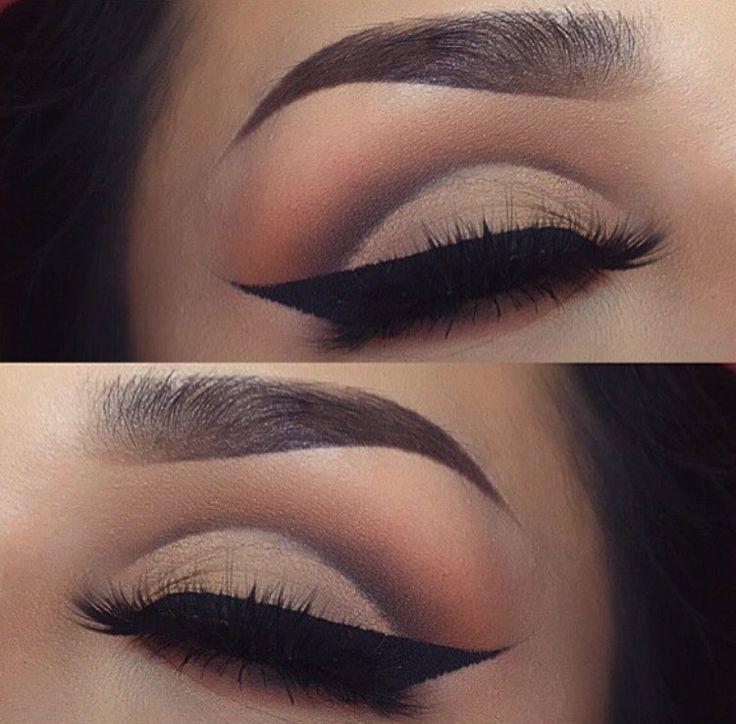 Such a nice cat eye and crease!!! @lupe_mua  #makeup #mua #motd