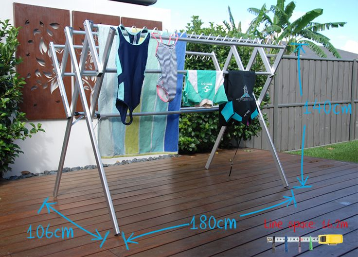 Elegant Portable, Lightweight Washing Line Laundry Solution. Dry Clothes Indoor Or  Outdoor, Rust Proof Eco Friendly