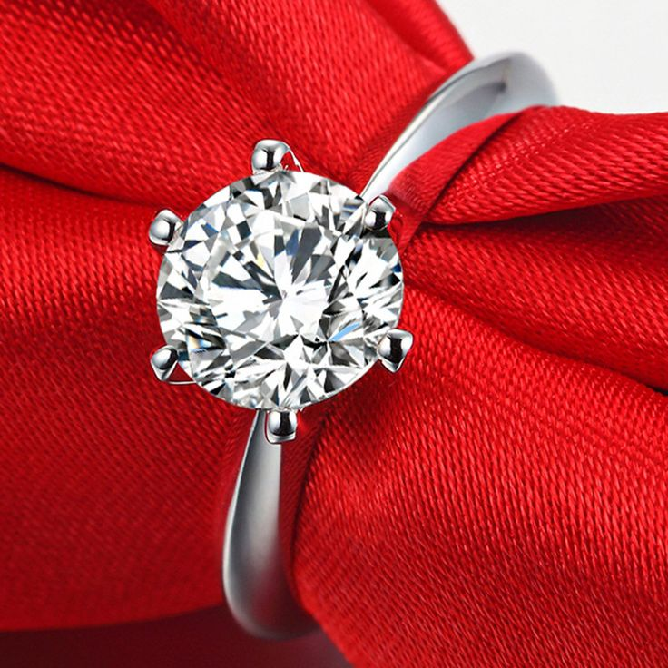 Hot selling Women 6mm CZ diamond Inlaid Wedding Rings Bridal Engagement Party Jewelry Ring Size 16-20