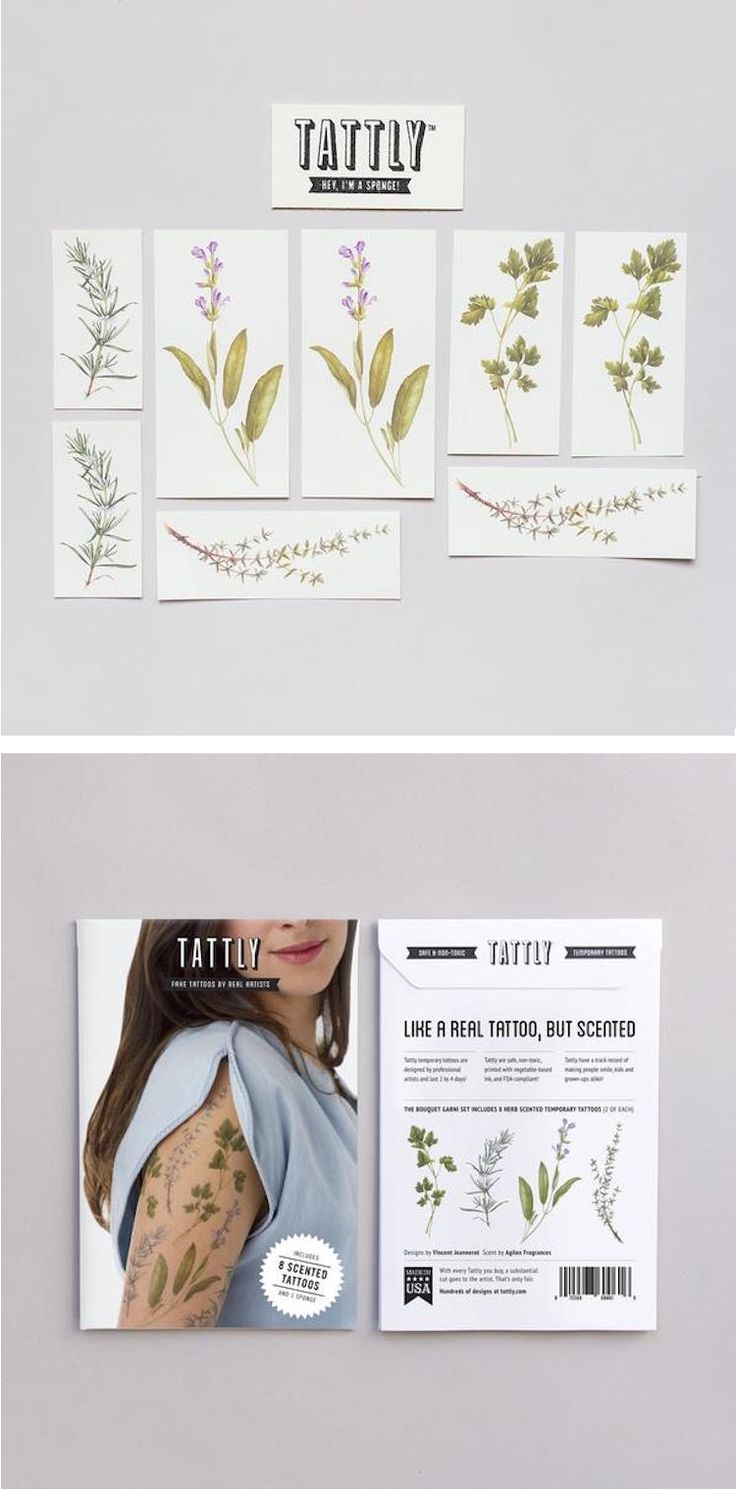 These scented temporary tattoos combine the beauty and scent of herbs without the full commitment of a real tattoo.