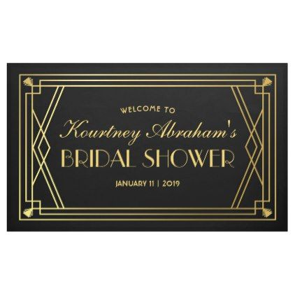 1920s Great Gatsby Art Deco Bridal Shower Banner  $26.35  by special_stationery  - cyo customize personalize unique diy