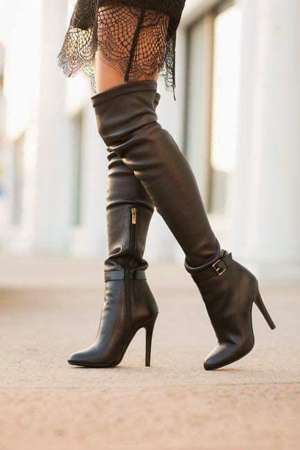 cizmele peste genunchi sunt practice si versatile siiii sexy